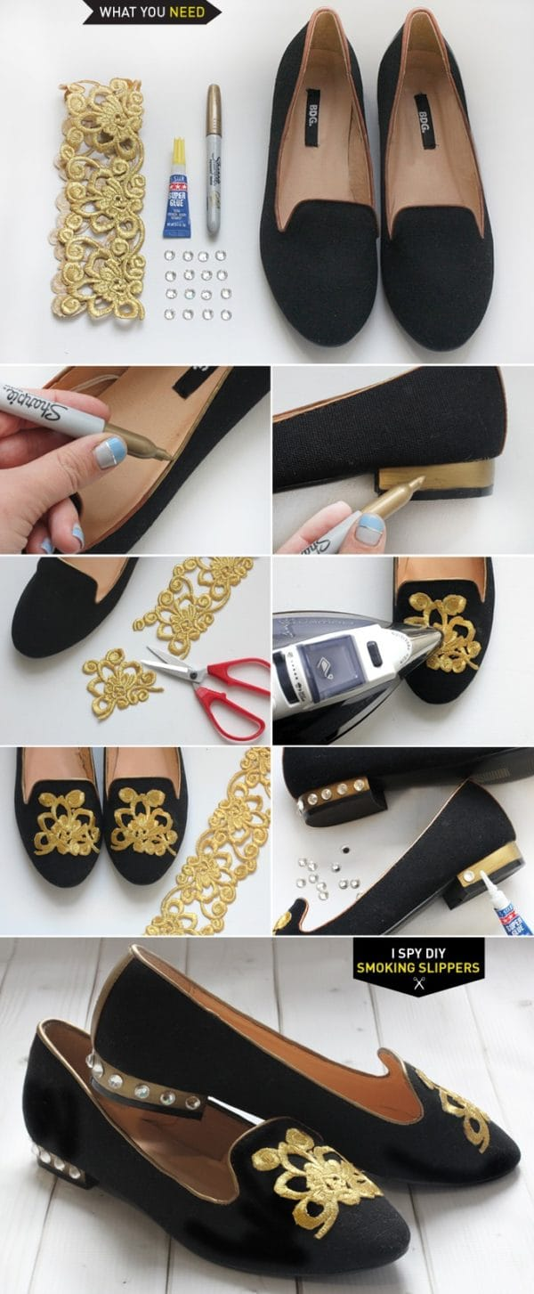 9 Amazing and Fabulous DIY Shoes Makeover Hacks