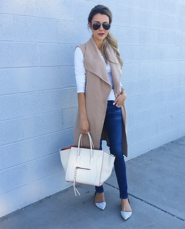 Perfect Time For Long Vest Look. 20 Outfits That Will Turn You Into a Super Chic This Season.
