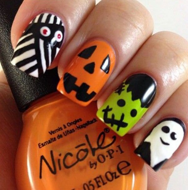 18 Cute and Funny Halloween Nails That Will Totally Inspire You