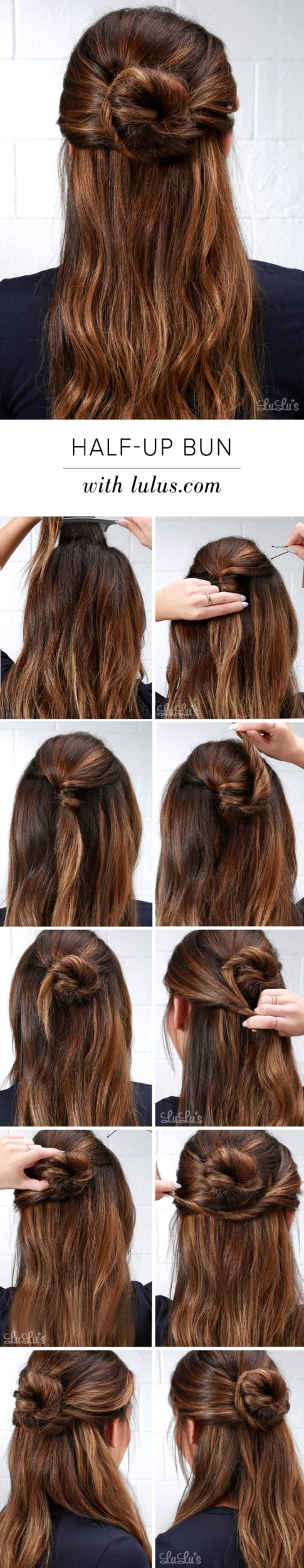 Make The Perfect Half –Up Bun: 10 Ways To Do It
