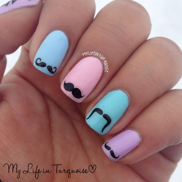 Movember Nails: Express Support For The Men's Health on Your Own Way