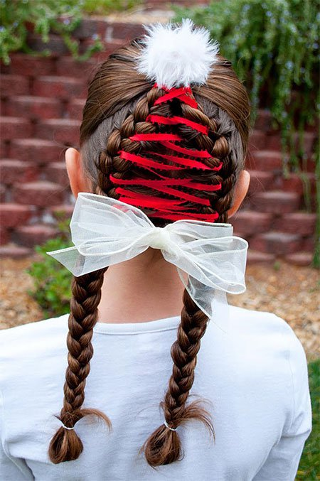 Christmas Hairstyles For The Little Princesses, Easy to Be Copied.