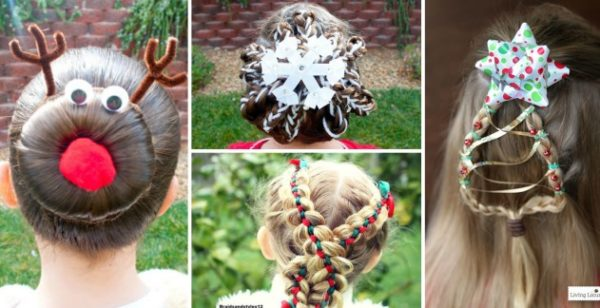 Christmas Hairstyles Easy.Christmas Hairstyles For The Little Princesses Easy To Be