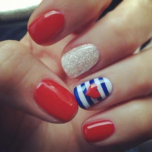 Lovely Nails Art  Ideas For The Valentine's day