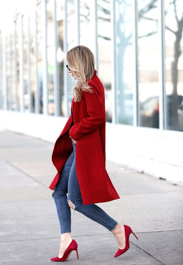 Romantic Red Colored Outfit,For The Valentine's Day