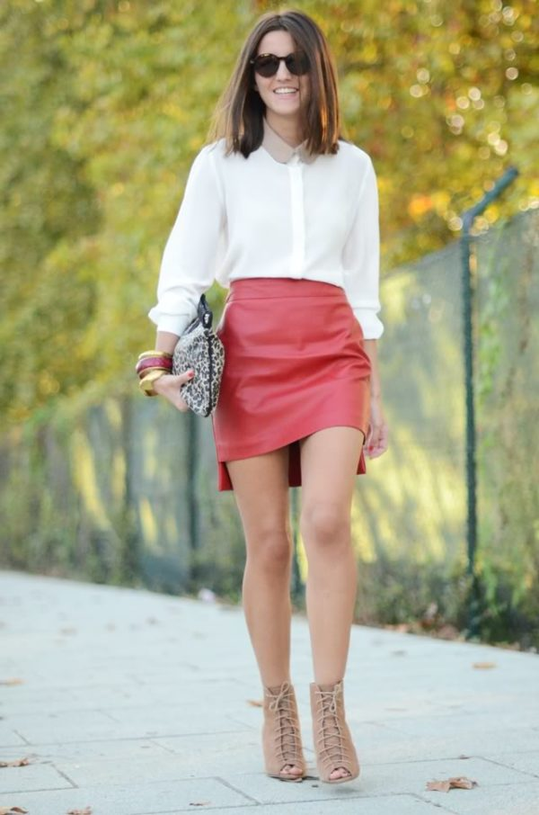 12 Stylish Red Skirts And Fashionable Combinations That Will Inspire You For The Valentines Day