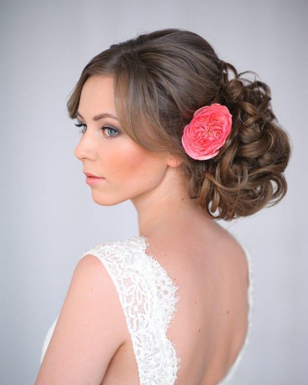 Floral Wedding Updo Frisuren, die Sie lieben würden