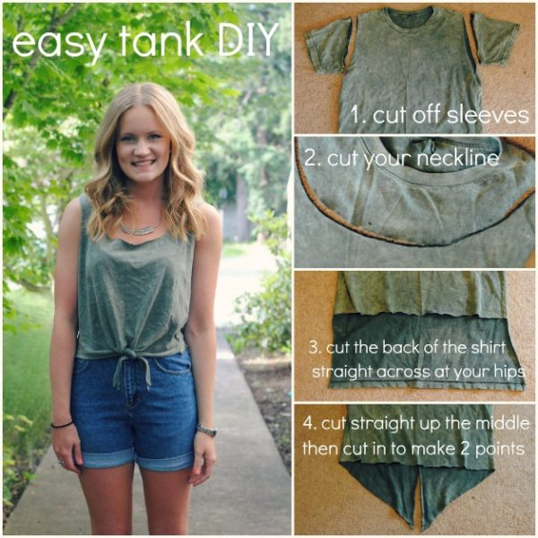12 Great DIY Ideas On How To Renew Your Old T shirts Into Chic Fashionable Pieces
