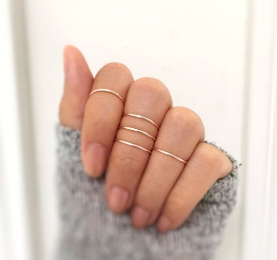 The Best Inspiration Ideas For To Get Your Perfect Multiple Rings Look