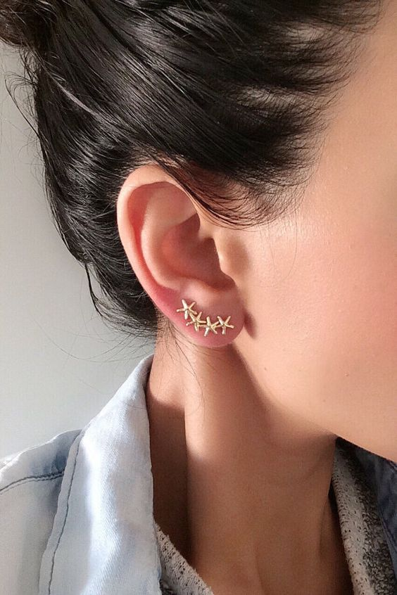 A Simple Necessity :Small Golden Eye Catching Earrings