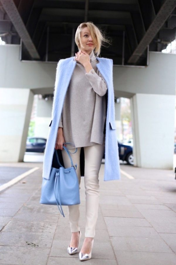The Best Pale Blue Bags Outfits For Sring 2017