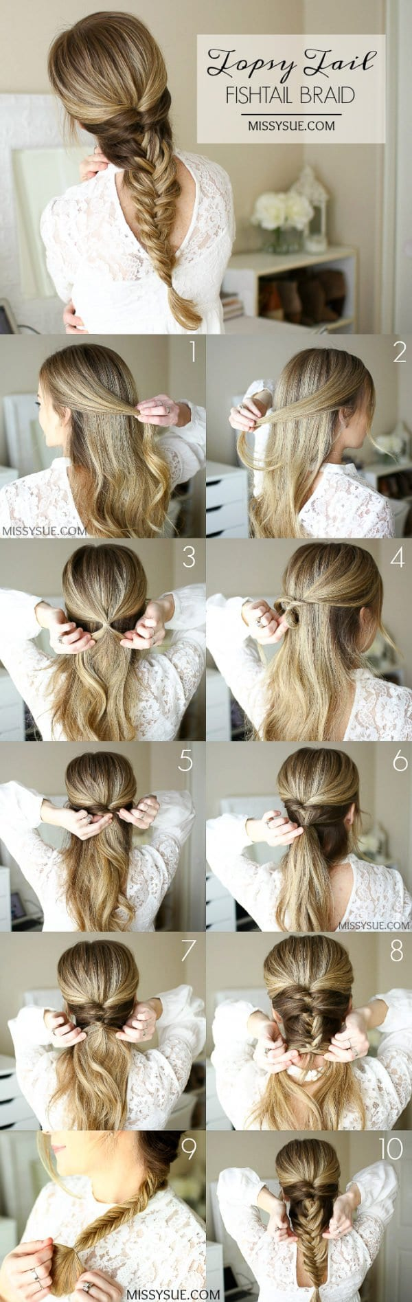 Easy Frisuren Tutorials für beschäftigte Frauen, die Sie weniger als 5 Minuten dauern wird