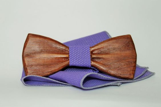 New Man Trend Alert To Impress: Wooden Bow Tie