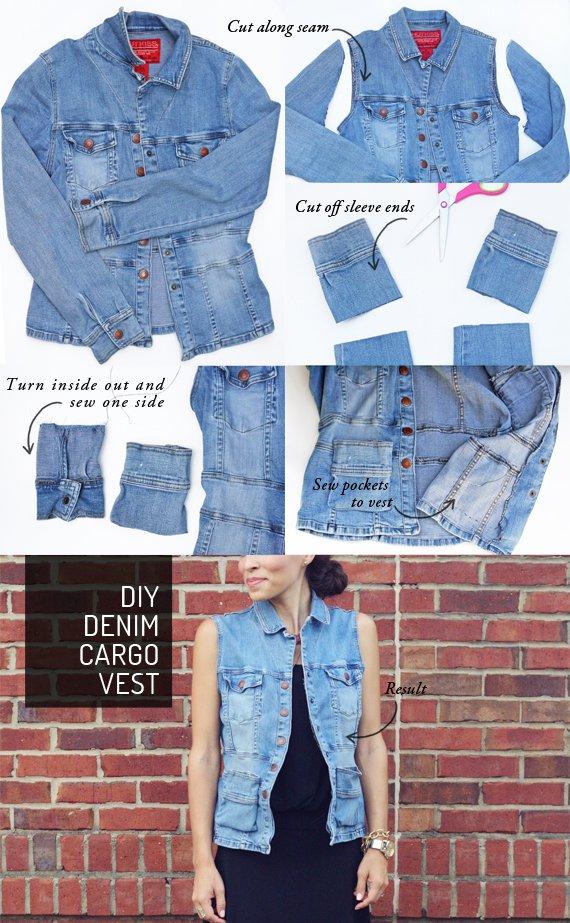 The Most Stylish DIY Denim Vest
