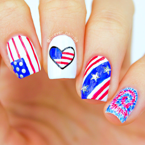 Creative Nails Art Designs To Celebrate The 4th Of July