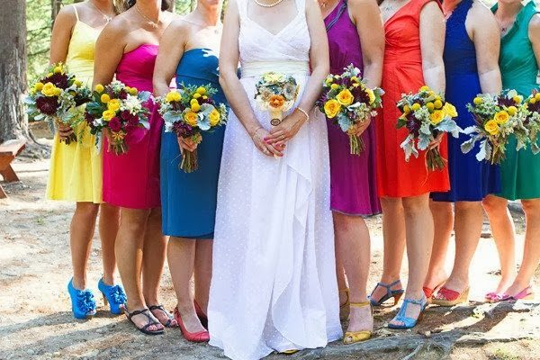 Rainbow Bridesmaids Dresses For A Colorful Wedding Full Of Love And Hope