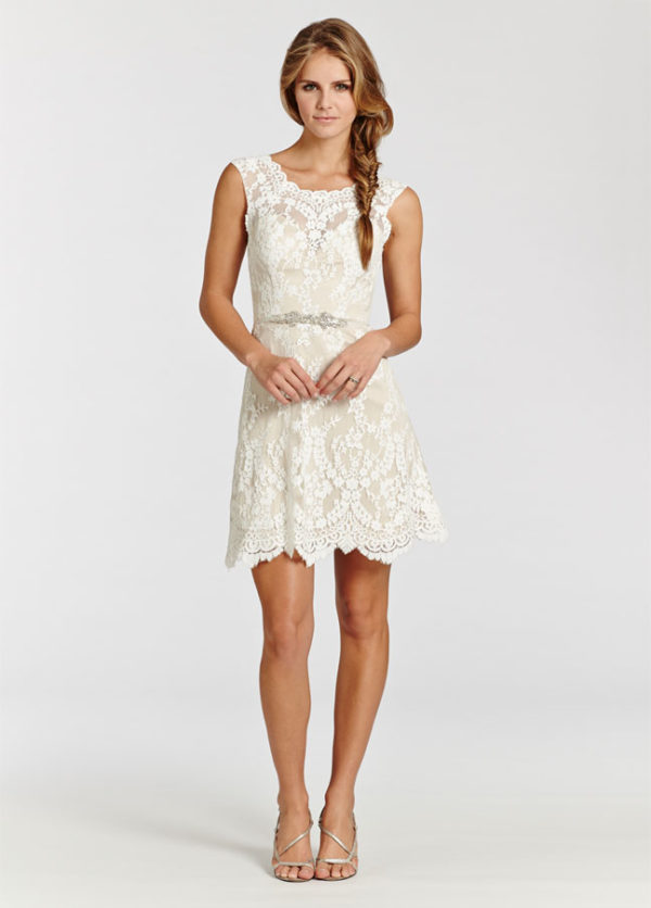 Fall in love with short wedding dresses a simple short dress in color of champagne junglespirit Choice Image