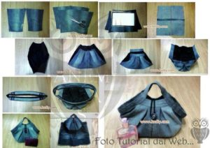 Cretaive DIY Tutorials To Create Bag From Your Old Clothes