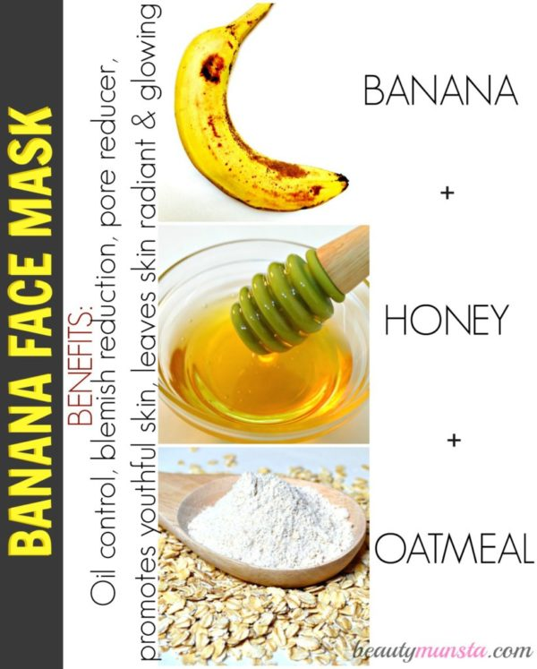 Six Magical Homemade Face Mask Recipies With Banana