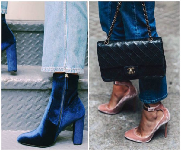 Make An Sratement Outfit Featuring The Biggest Trend For Fall/Winter 2018   Velvet Shoes For Strong Steps