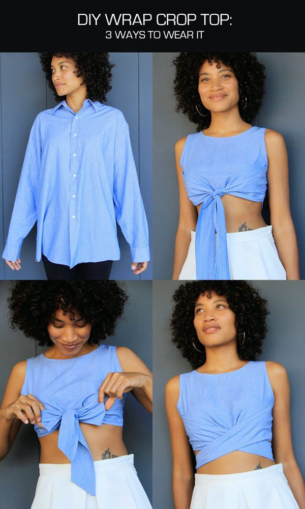 Creative DIY Tutorials To Turn On Your Old T shirt Into A Modern Summer Crop Top