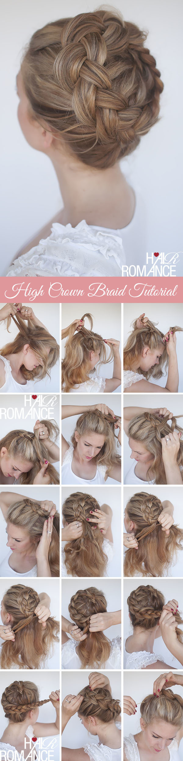 The Best Crown Braids DIY Tutorials For Princess Look Anywhere