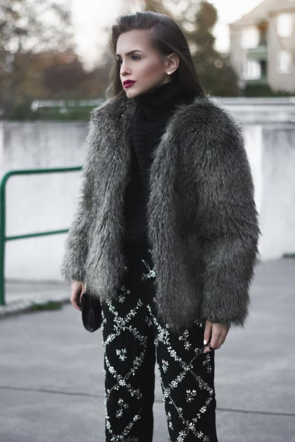 How To Make Stunning Combinations With Faux Fur Coat