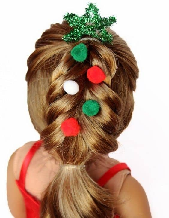 cute christmas hair styles the most creative diy hairstyle for your 5427 | zc 1