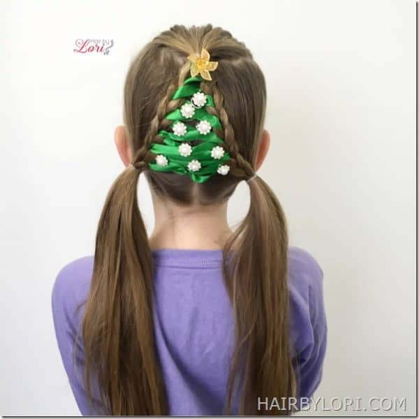 The Most Creative DIY Christmas Hairstyle For Your Little Princesses