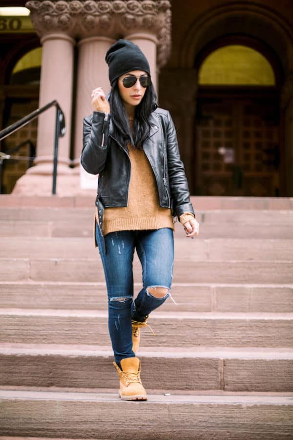 How To Style Your Yellow Timberland Boots In Some