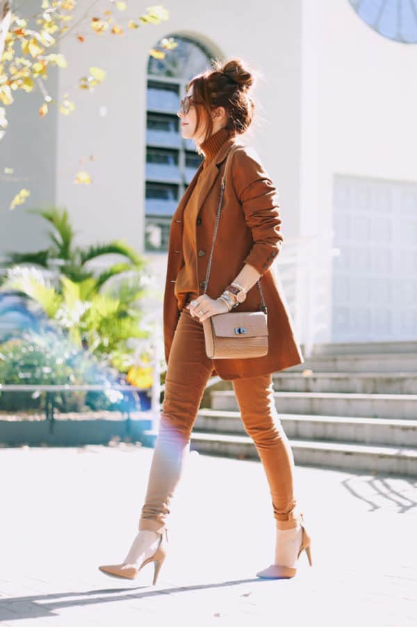How To Style Monochomatic Outfit To Look Modern And Elegant In Winter