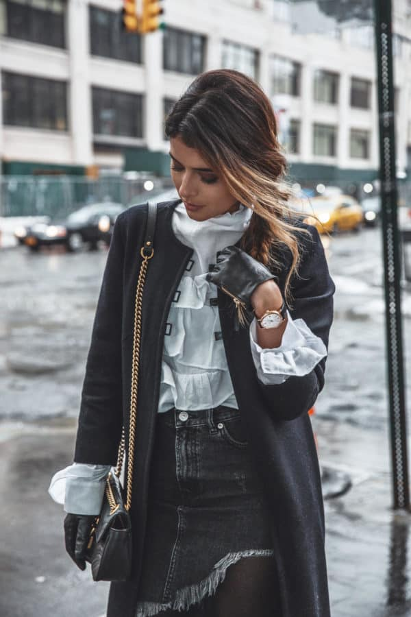 How To Style Ruffles When The Temperatures Drop