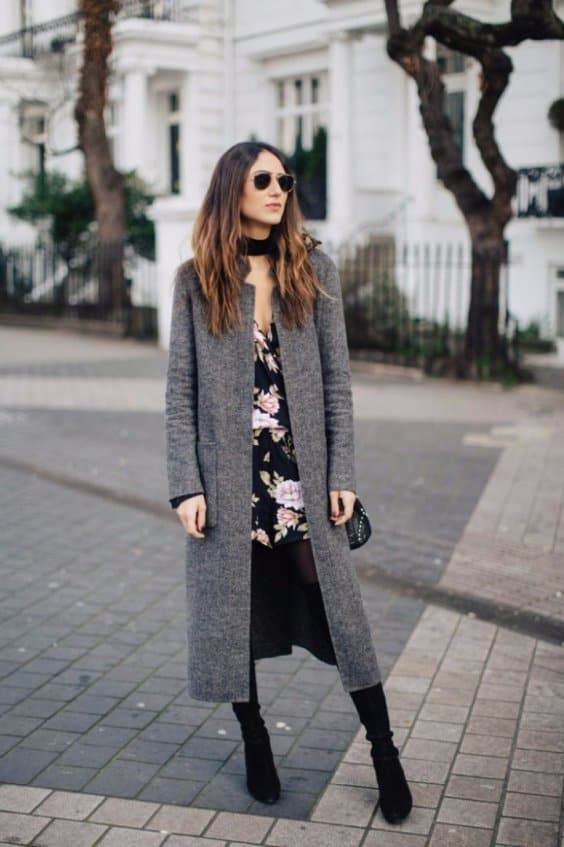 Lively Floral Winter Outfits That Will Get Your Energy Level Up