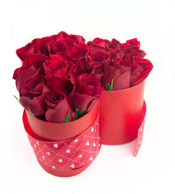 Ten Step By Step DIY Roses Bouquet In A Heart Shaped Box Tutorial For Valentines Day