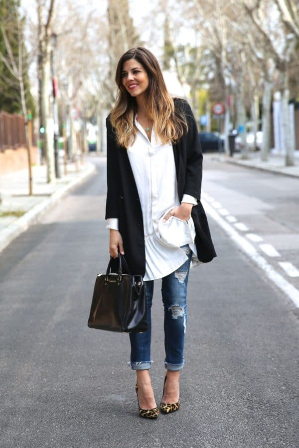 Dress Over The Jeans  Fashion Trend To Copy This Spring