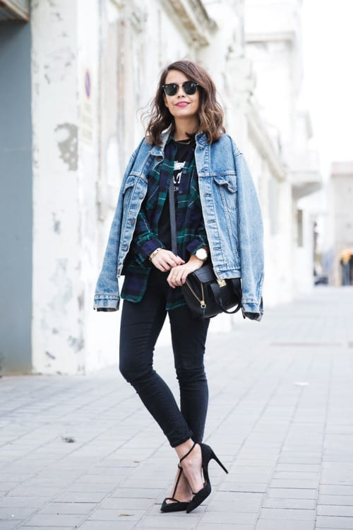 How To Wear Your Denim Jacket When The Temperatures Are Still Low