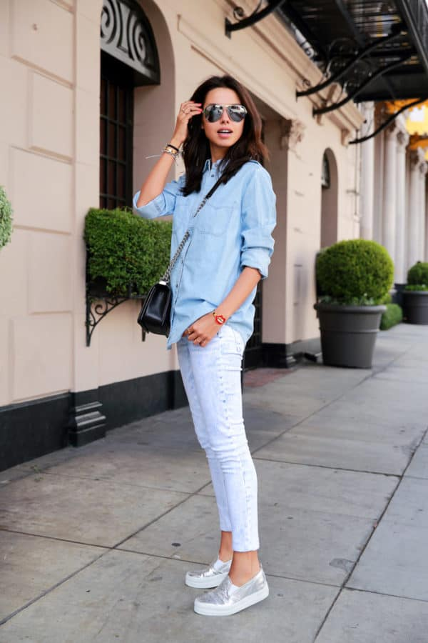 How To Combine Your Slip On Shoes With Your Spring Attire