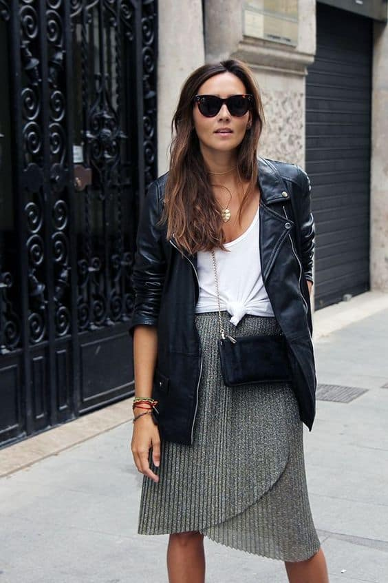 How To Style Your Black Leather Jacket This Spring