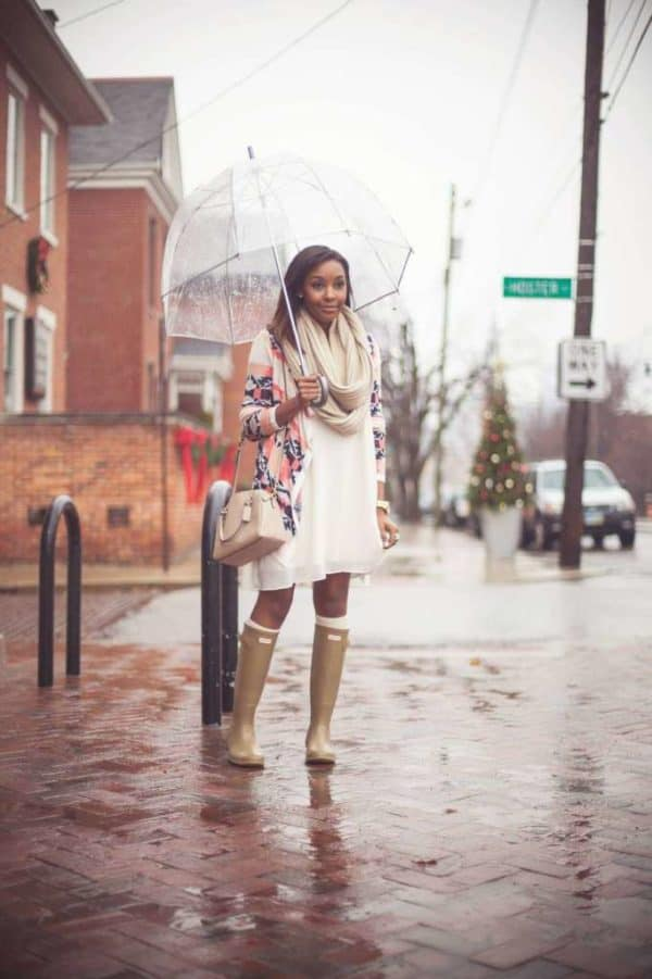 Adorable Spring Combinations With Rain Boots That Are Perfect For The Spring Showers