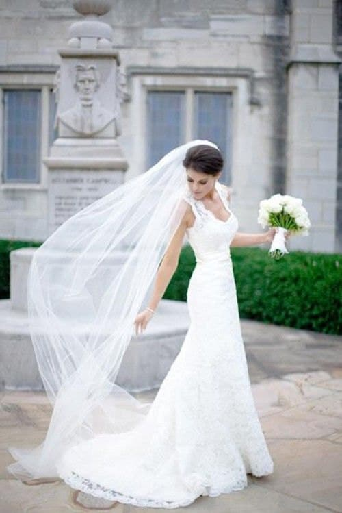 Useful Tips That You Shouldnt Miss If You Want To Wear A Long Wedding Veil