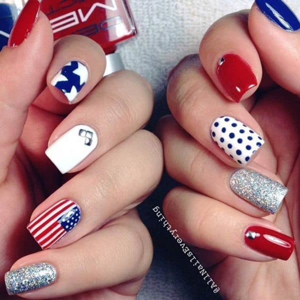 4th of July Nail Designs That Will Help You Show Your Patriotic Spirit