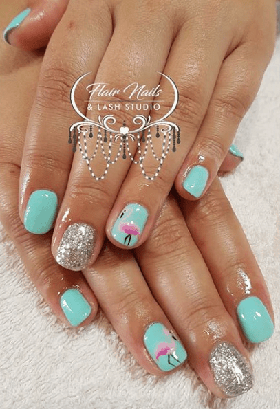 Flamingo Nail Designs That Celebrate Summer