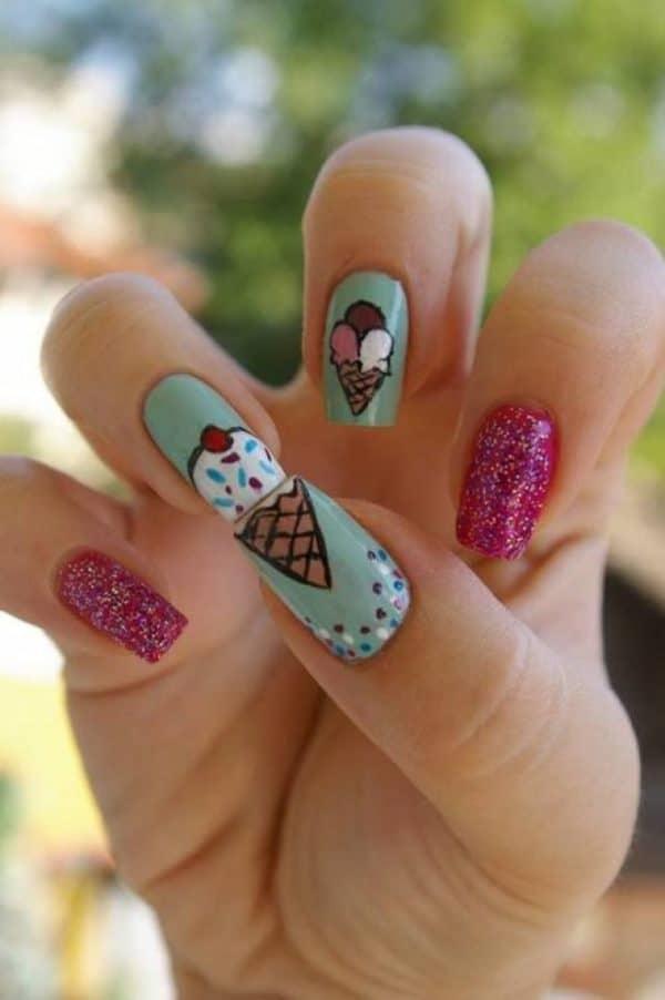 I Scream For Ice Cream Nails