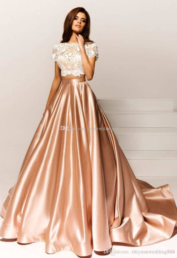 Fancy Two-Piece Evening Gowns That Will Put You In The Center Of ...