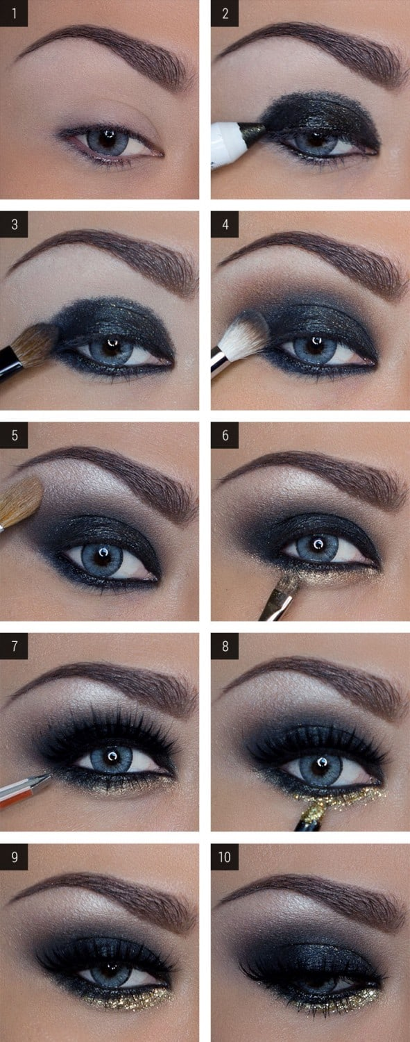 Glittering Eyeliner Makeup Ideas That Will Draw Attention To Your Eyes