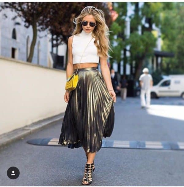 How To Style Pleated Skirts This Summer In Some Fancy Ways