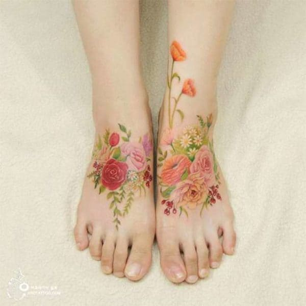 Delicate Floral Tattoos That Will Fascinate All The Flower Lovers