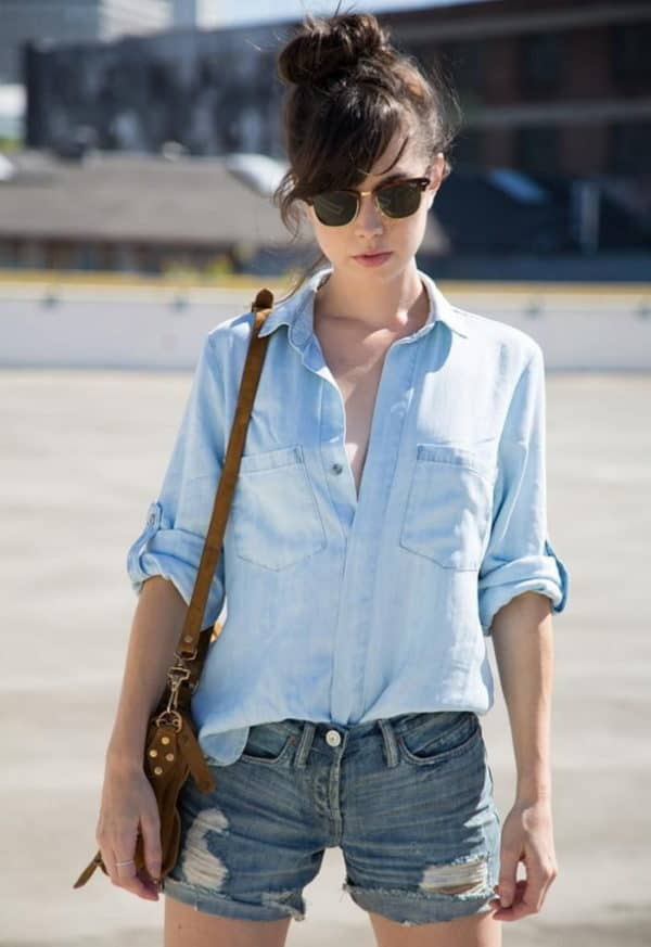 The Most Stylish Wys To Wear Denim Shorts This Summer