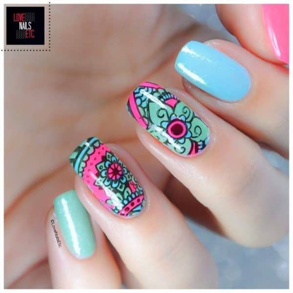 The Calming Beauty Of Mandala Nails
