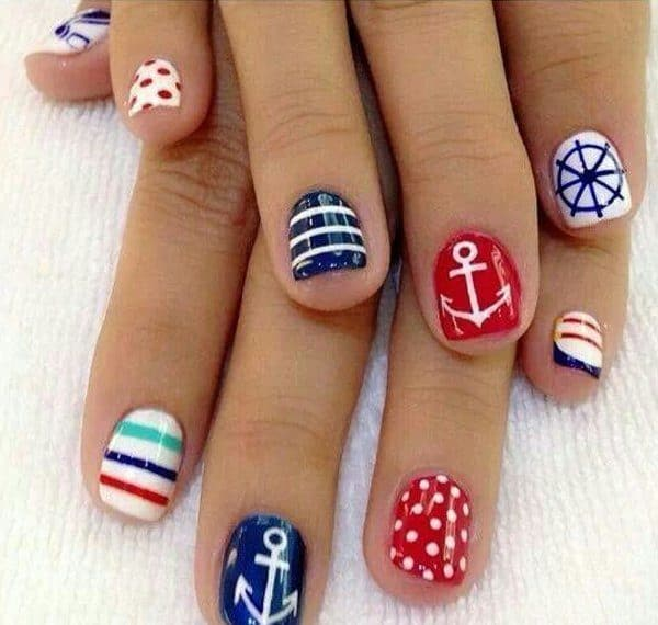 Summer Nautical Nail Designs That You Shouldnt Miss